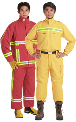 fire retardant clothing, fire fighting gloves, fire fighting boots